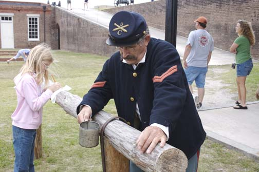 Civil War Reenactors Storm Fort Clinch