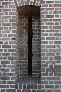 Gun slit on the lower level of Fort Clinch State Park