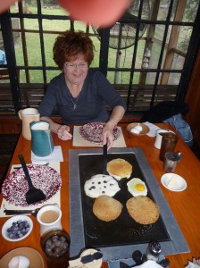 DeLeon Springs - flipping pancakes