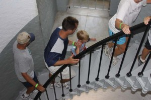 Climbing Ponce de Leon Lighthouse stairs