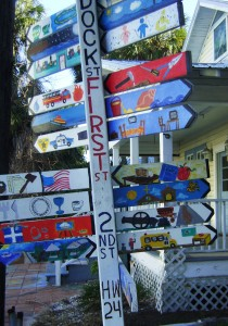 Funky Florida - Cedar Key signs