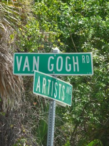 Olde Englewood Village - artist street sign