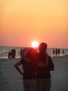 visit Sarasota - sunset on LIdo Beach