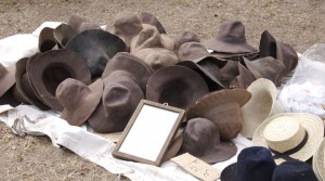 living history reenactors wear period hats
