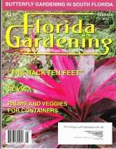 Magazine cover Florida Gardens February 2013