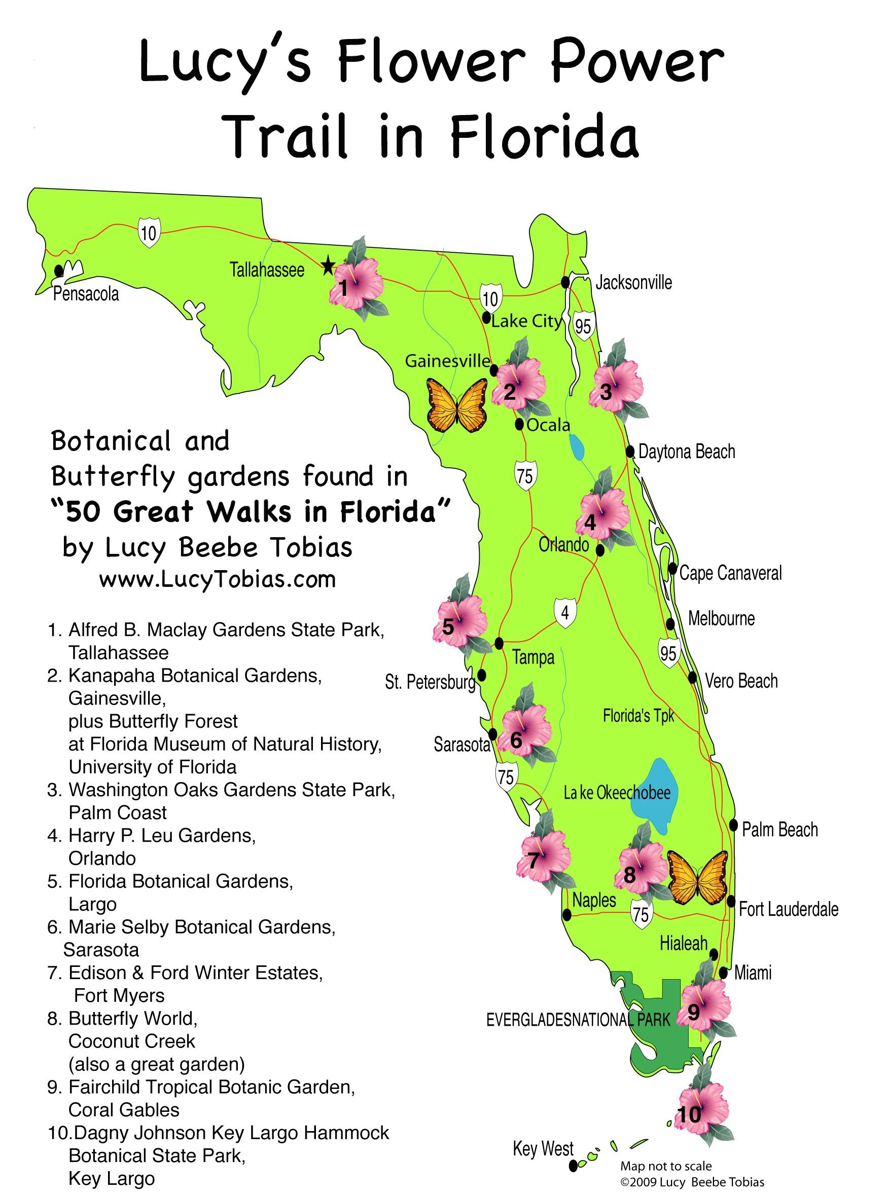 Flower Power Blooms In Florida Lucy Tobias - Florida map state parks