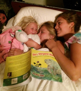Madison, Finn and Else like Mary Margaret Manatee. Submitted photo.