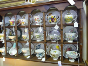 Antique teacups in Arcadia