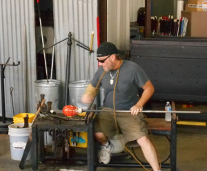 Downtown St. Petersburg - glass blowing