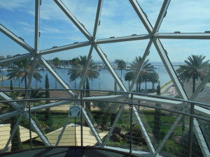 Florida art museum, Dali window view, St. Petersburg