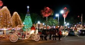Ocala - downtown square with Christmas lights